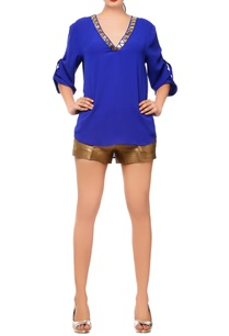 royal-blue-blouse-with-triangle-embellishment