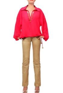 scarlet-red-collared-top-with-embroidery