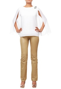white-top-with-slit-sleeves