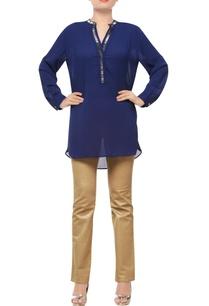 navy-blue-embellished-tunic
