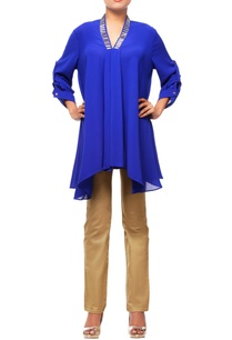 royal-blue-tunic-with-embroidery