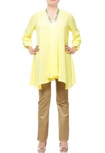 lemon-yellow-embellished-tunic