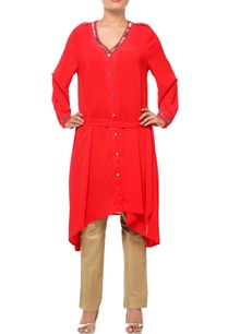 red-asymmetrical-tunic-with-embellishments