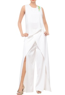 white-asymmetric-tunic