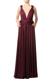 wine-deep-neck-gown