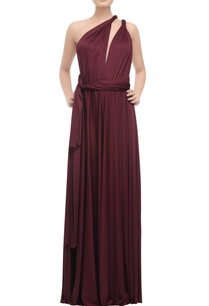 wine-one-shoulder-open-back-gown