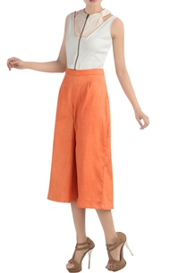white-cutout-top-with-orange-culottes
