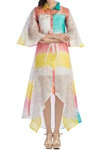 multi-colored-block-printed-jacket-dress