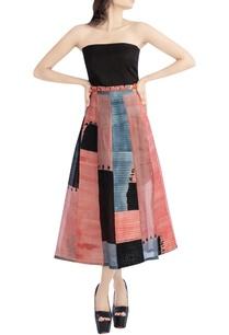 black-pink-tube-dress