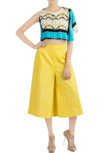 multi-colored-crop-top-yellow-pants