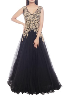 black-gown-with-gold-embellishment