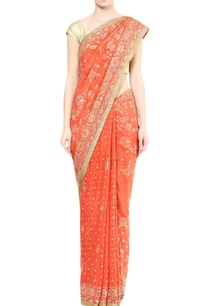 orange-embellished-sari