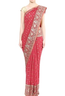 red-embellished-sari