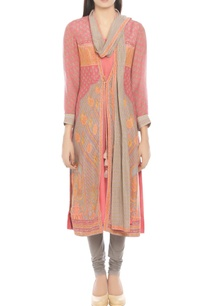pink-grey-kurta-with-attached-dupatta