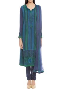 blue-turquoise-printed-kurta-set