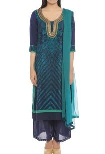 indigo-blue-kurta-set-with-paisley-print