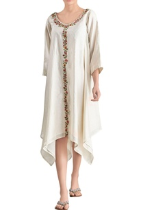 ivory-embroidered-asymmetric-dress