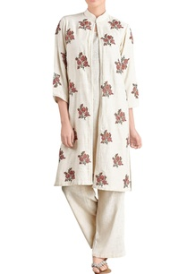 off-white-kurta-trousers-with-jacket
