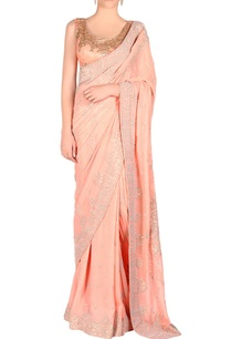 peach-sari-blouse-with-sequin-embroidery