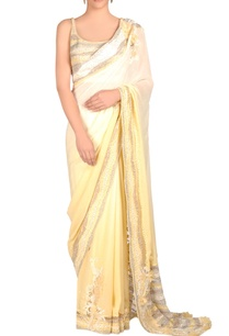 ivory-lemon-yellow-shaded-sari