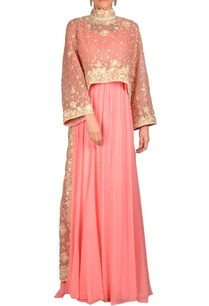 pink-gown-with-embellished-cape