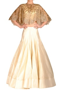ivory-lehenga-set-with-beaded-cape