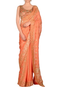 peach-sari-with-jaal-embroidery