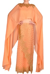 peach-lehenga-cape-with-embroidery