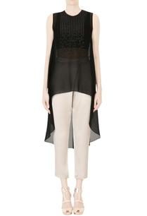 black-embellished-asymmetric-tunic