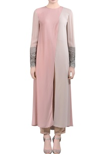 pink-kurti-with-embellished-sleeves