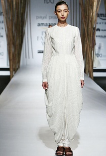 ivory-draped-dress-with-embroidery