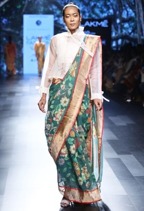 emerald-green-sari-with-floral-motif