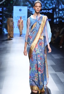 light-blue-sari-with-floral-motif