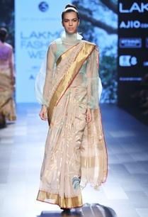 beige-sari-with-zari-temple-border
