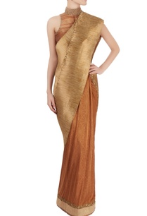 gold-pleated-sari