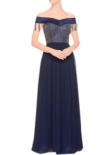 navy-blue-embellished-gown