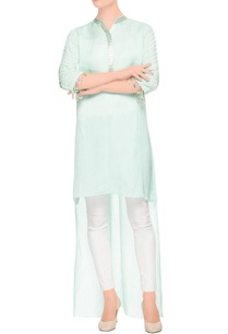mint-green-high-low-kurta