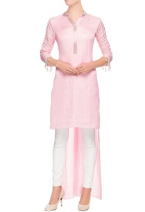 pastel-pink-high-low-kurta
