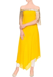 mango-yellow-asymmetric-kurta