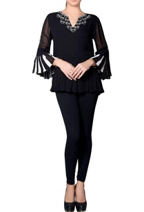 black-ivory-embroidered-top-with-paneled-sleeves