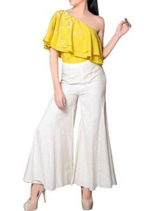 yellow-one-shoulder-frill-top
