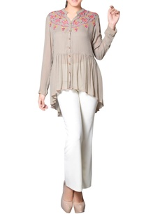 grey-embroidered-gathered-tunic
