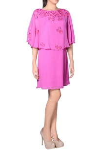 pink-cape-dress-with-embroidery
