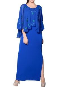 cobalt-blue-cape-gown-with-embroidery