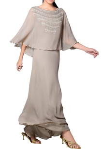 light-grey-embroidered-cape-gown