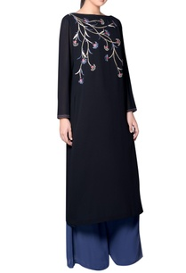 black-embroidered-kurta-with-ombre-palazzos