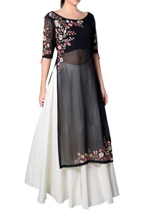 black-embroidered-kurta-with-skirt