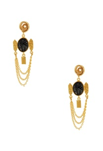 gold-black-chain-earrings