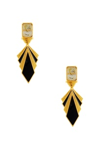 black-gold-layered-earrings