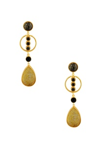 black-stoned-drop-earrings